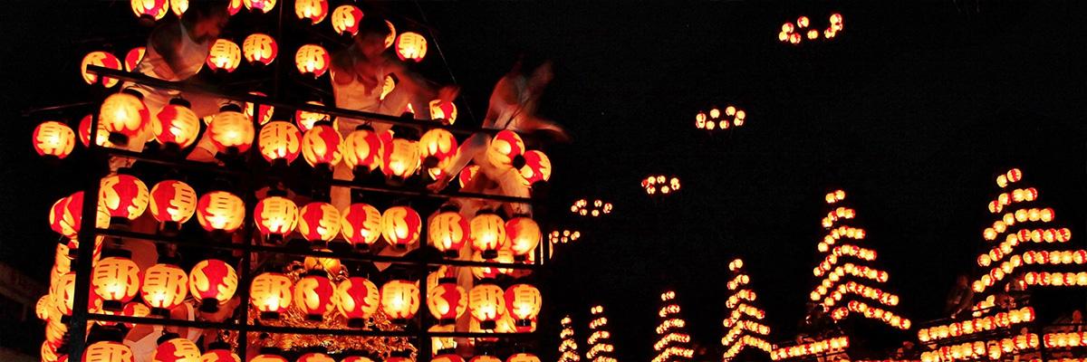 二本松の提灯祭りの画像